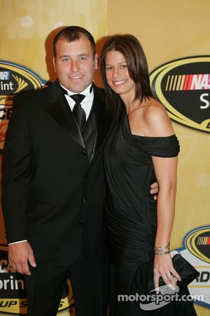 Ryan Newman with his wife Krissie