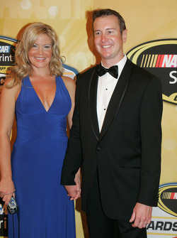 Kurt Busch with his wife Eva
