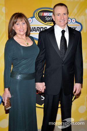 Mark Martin with his wife Arlene