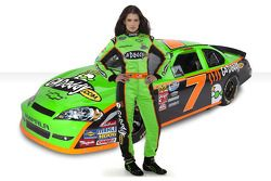 Go Daddy girl Danica Patrick showing off the new GoDaddy.com cars