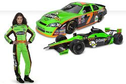Go Daddy girl Danica with the new No. 7 GoDaddy.com Chevrolet