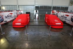 Sprint Gas Racing cars of Greg Murphy and Jason Bargwanna