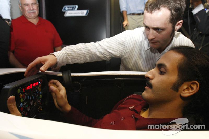His Highness Sheikh Khalid bin Hamad Al-Thani, Qatar, Williams F1 Headquarters near Oxford, UK, to t