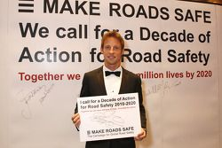 F1 World Champion Jenson Button lends his support to the Decade of Action for Road Safety campaign