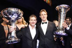 FIA World Rally Champion Sébastien Loeb and Formula One World Champion Jenson Button, Brawn GP