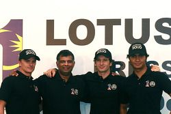 newly-announced pilotu s for Malaysian-backed Lotus F1 team: Jarno Trulli, Heikki Kovalainen ve Fair