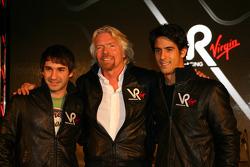 Timo Glock, pilotu ve Sir Richard Branson, Yönetim Kurulu Başkanı, Virgin Group ve Lucas di Grassi,