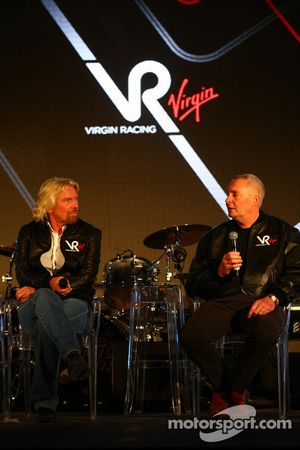 Sir Richard Branson, Chairman of the Virgin Group and John Booth, Sporting Director