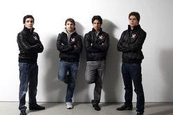 Alvaro Parente, Timo Glock, Lucas di Grassi, et Luiz Razia