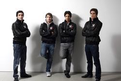Alvaro Parente, Test Pilotu, Timo Glock, pilotu , Lucas di Grassi, pilotu , ve Luiz Razia, Test Pilo
