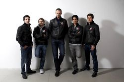 Alvaro Parente, Timo Glock, Nick Wirth, Lucas di Grassi, et Luiz Razia