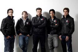 Alvaro Parente, Timo Glock, Alex Tai, Lucas di Grassi, et Luiz Razia