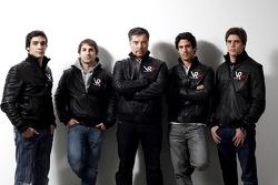 Alvaro Parente, Test Pilotu, Timo Glock, pilotu , Alex Tai, Virgin Racing CEO ve Takım Patronu, Luca
