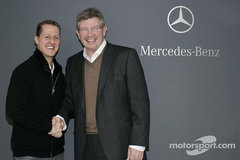 Michael Schumacher avec Ross Brawn