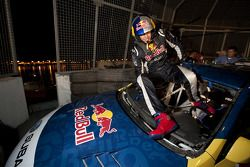 Travis Pastrana makes history and shatters the world record for longest distance jump, with his Subary rally car in Long Beach