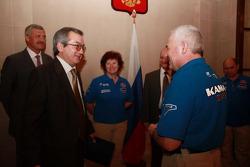 L'équipe Kamaz-Master  visite Buenos Aires