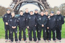 Team Casteu leaves Paris for Buenos Aires: David Casteu, Michael Pisano and Ludovic Boinnard pose with their team