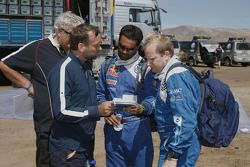 Peter Utoft, Kris Nissen, Nasser Al Attiyah en Timo Gottschalk