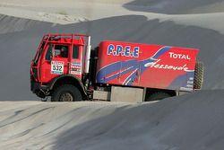 Les camions alignés