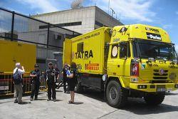 Loprais Tatra Team trucks at scrutineering