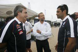 Carlos Sainz, Kris Nissen et Nasser Al Attiyah