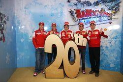 Nicky Hayden, Casey Stoner, Fernando Alonso, Felipe Massa ve Giancarlo Fisichella