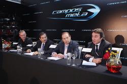 Adrian Campos habla en la conferencia de prensa