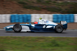 Michael Schumacher tests a GP2 car