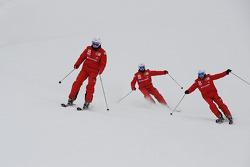 Fernando Alonso, Felipe Massa y Giancarlo Fisichella
