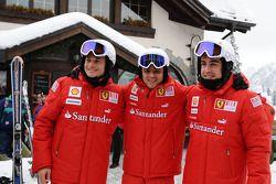 Giancarlo Fisichella, Felipe Massa en Fernando Alonso