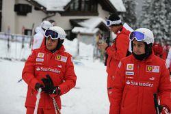 Felipe Massa en Fernando Alonso