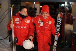 Giancarlo Fisichella en Fernando Alonso