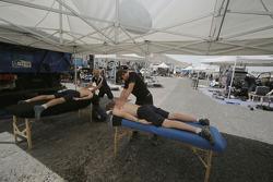 Fisioterapia en el área de servicio de Volkswagen Motorsport
