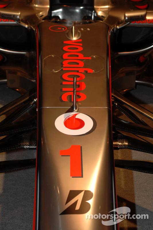 Nez de la McLaren de Lewis Hamilton
