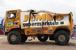 Поврежденный грузовик #522 Ginaf Яна Ламмерса, Эмиля Мегенса и Чарли Готлиба