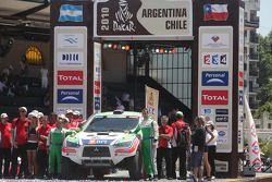 Podio de autos: Miguel Barbosa y Miguel Ramalho