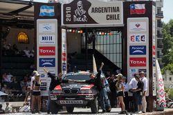 Podio de autos: Ricardo Leal dos Santos y Paulo Fiuza