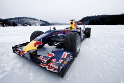 Red Bull Racing F1 car in the snow at Circuit Gilles-Villeneuve in Lac-à-l'Eau-Claire, Québec, Canada