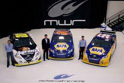 Los pilotoss del equipo Michael Waltrip Racing de la NASCAR Sprint Cup Series, David Reutimann, Mich
