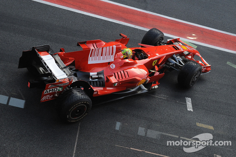 Valentino Rossi in Ferrari F2008 at Barcelona in 2010