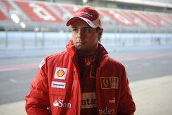 Felipe Massa testet den Ferrari F2008