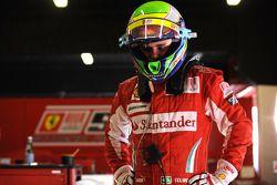 Felipe Massa tests the Ferrari F2008