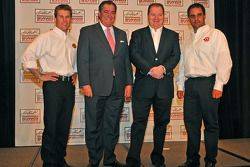 Earnhardt Ganassi team of Jamie McMurray, owners Felix Sabates and Chip Ganassi, and Juan Pablo Mont