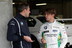 Bart Mampaey, BMW UK Team, Team Manager and Augusto Farfus, BMW 320si, BMW Team UK