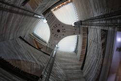 Atrium inside the Mercedes-Benz Museum