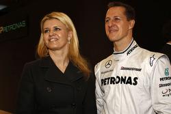 Michael Schumacher avec son épouse Corina