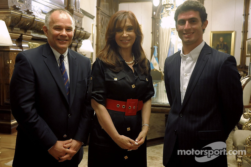 Peter Windsor, Cristina Fernetez de Kirchner et Jose Maria Lopez