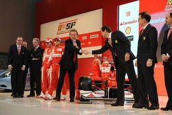The Ferrari F10 is presented