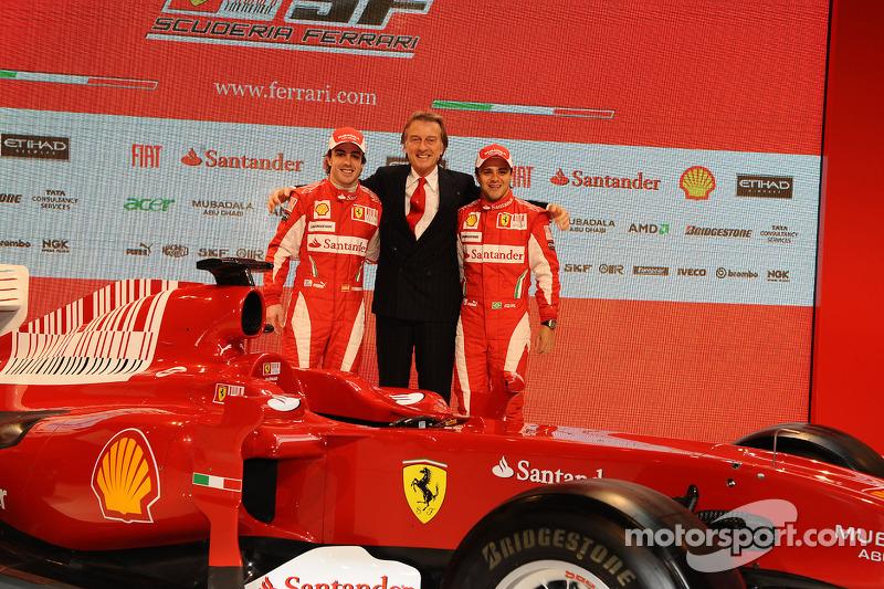 Felipe Massa, Luca di Montezemolo and Fernando Alonso