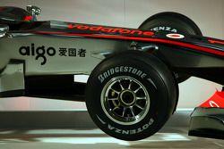 The new McLaren Mercedes MP4-25, detail